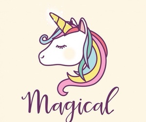 unicorn, magical, and pink image