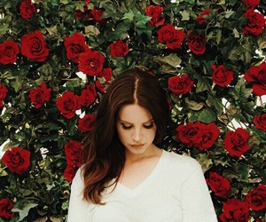 red, lana del rey, and roses image