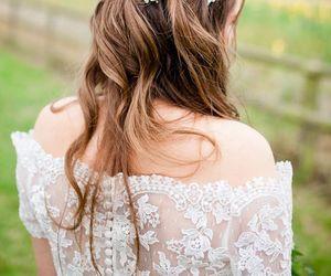 braid, bride, and groom image