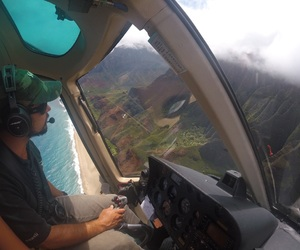 hawaii, helicopter, and paradise image