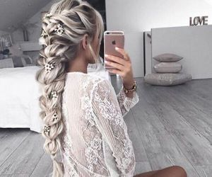 braids, girl, and hair colors image