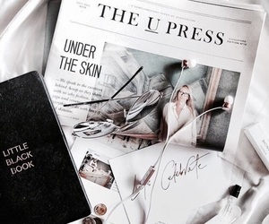 white, book, and newspaper image