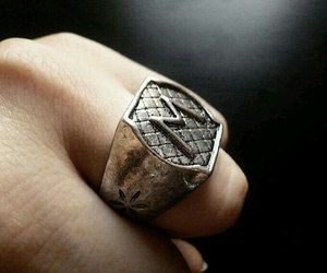 draco malfoy, harry potter, and ring image