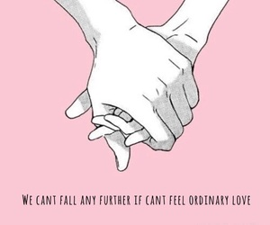 couple, falling, and hands image