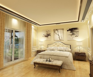 bedroom, classic, and golden image
