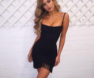 black dress, dress, and fab image