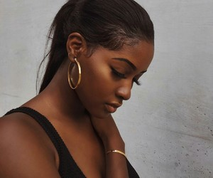 African, earrings, and golden image