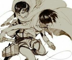 mikasa ackerman, anime, and levi image