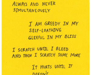 words, poetry, and yellow image