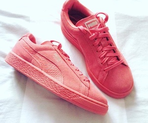 basket, pink, and puma image