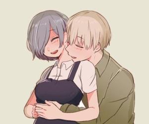 kaneki x touka, touken, and anime couples image