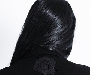 black, hair, and dark image