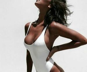 bikini, white, and fashion image
