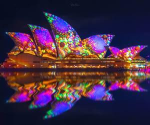 australia, landscape, and opera house image