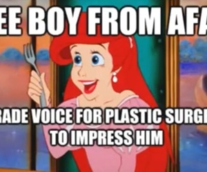 animation, ariel, and fork image