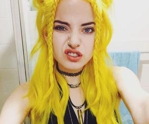 yellow, yellow hair, and hair image