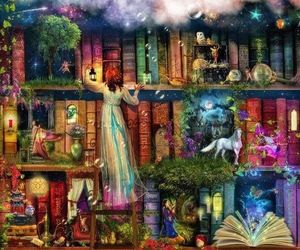 book, fantasy, and reading image