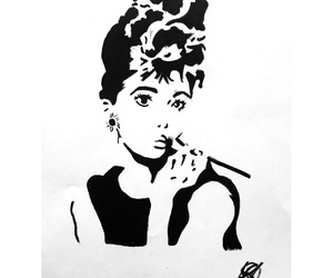 audrey, stencil, and draw image