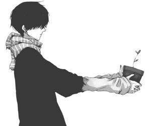 anime, boy, and alone image