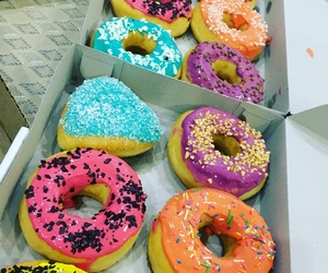 blue, good, and donuts image