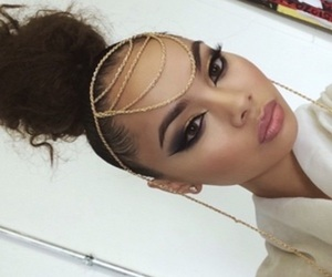 makeup, hair, and pretty image