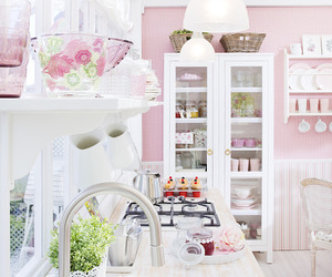 kitchen, pink, and white image