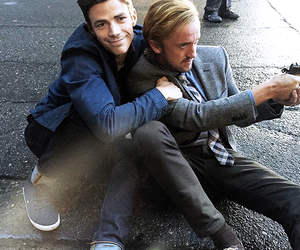 tom felton, grant gustin, and the flash image