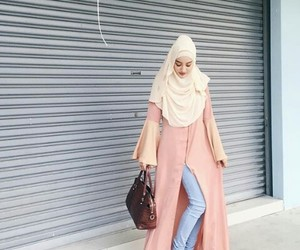 clothing, fashion, and hijab image