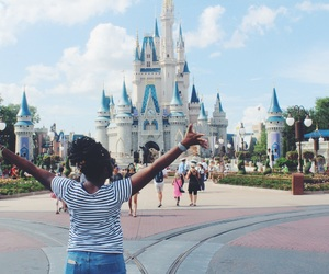 black girl, brown girl, and castle image