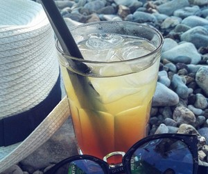beach, summer, and coctail image