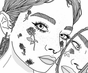 outline and girl image