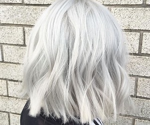 hairstyle, hair, and grey image