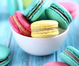 wallpaper and macaroons image