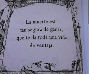 death, frases, and vida image