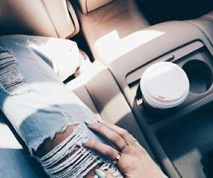 coffee, jeans, and messy image