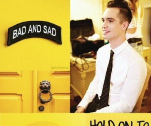 brendon urie, yellow, and lockscreen image