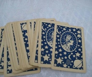 cards, tarot, and blue image