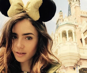 lily collins, actress, and disneyland image