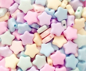 pastel, stars, and pink image