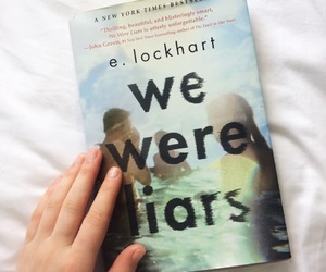 books, mystery, and we were liars image