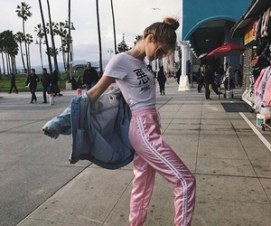 girl, style, and pink image