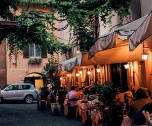 travel, italy, and restaurant image