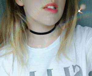 choker, rainbow, and cute image