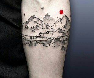 art, body, and mountains image