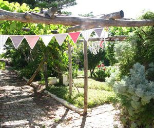 bunting and country garden image