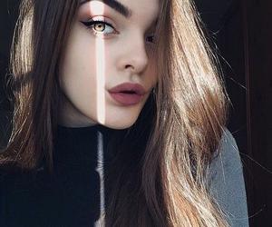 beautiful girl, fashion, and make image