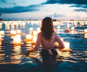 lights, beauty, and ocean image
