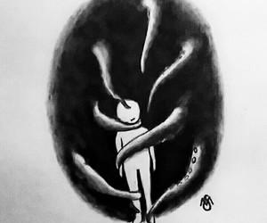 art, creepy, and depressed image