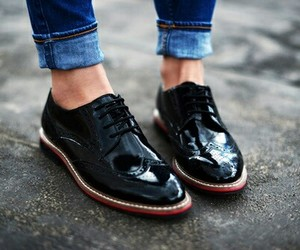 black, shoes, and girl image
