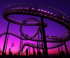 purple, pink, and Roller Coaster image